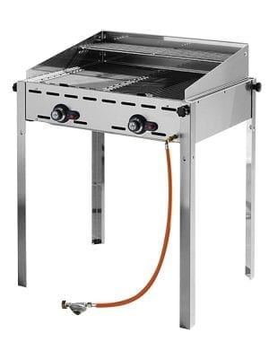 "Barbecue ""Green fire"", 2 burners, 1270x525x(H)840 mm, 11,6kW"